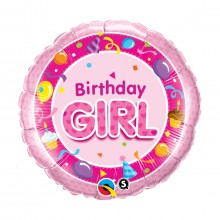 "Balon z helem ""Birthday girl"""