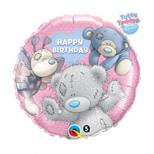 "Balon z helem ""Happy Birthday"" (Miś)"